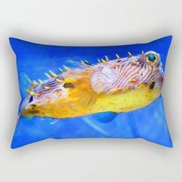 Magic Puffer - Fish Art By Sharon Cummings Rectangular Pillow