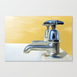 Bathtub Painting Canvas Print
