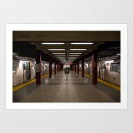 Empty New York Subway Station Art Print