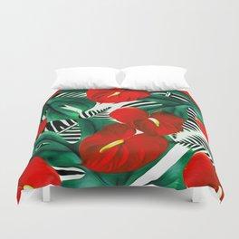 Anthurium red Duvet Cover
