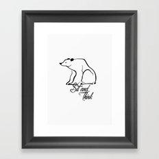 Sitting bear Framed Art Print