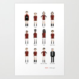 Milan - All-time squad Art Print