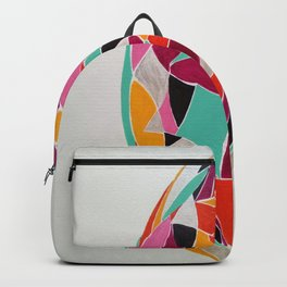 Alien - Abstract Geometric bright colorful Backpack