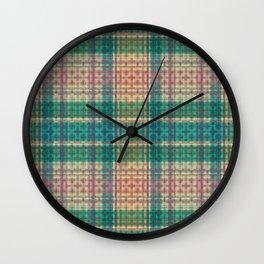 Mild Autumn Plaid Wall Clock