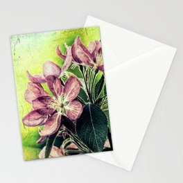 Rustic Dark Pink Flowers Modern Cottage Chic Country Art A139 Stationery Cards