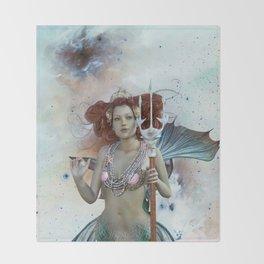 Space Siren: Mermaids of the Sky Throw Blanket