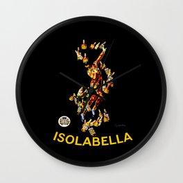 Leonetto Cappiello Isolabella Liqueur Advertising Poster Wall Clock