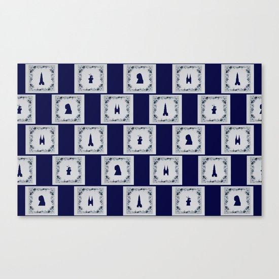 Collage Delft blue tiles Canvas Print
