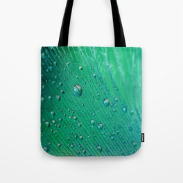 Emerald Feather Tote Bag
