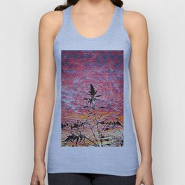 Leaf shadow at sunset Unisex Tank Top