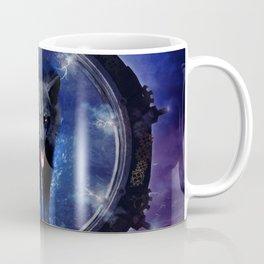 Awesome wolf comes through a gate Coffee Mug