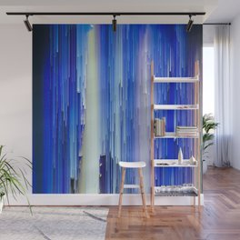 Frozen blue waterfall abstract digital painting Wall Mural