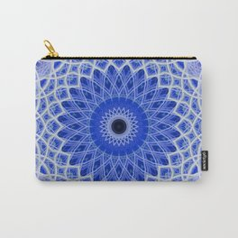 Mandala in blue and white colors Carry-All Pouch