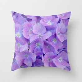 Hydrangea lilac Throw Pillow