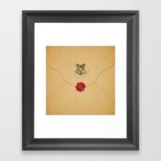 Hogwarts Envelope Framed Art Print