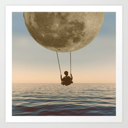 DREAM BIG/MOON CHILD SWING Art Print
