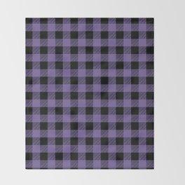 Purple Buffalo Plaid Throw Blanket