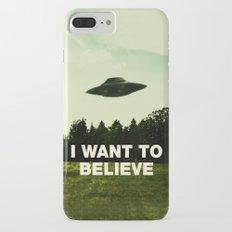 UFO, I Want To Believe Slim Case iPhone 7 Plus