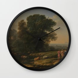 Landscape with Cephalus and Procris reunited by Diana - Claude Wall Clock