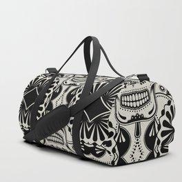 Sugar Skull Art B&W Duffle Bag