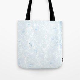 Japan Sakura Flowers - Blue Romance Tote Bag