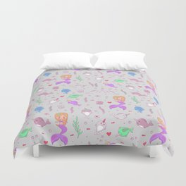 Narwhal and friends Duvet Cover