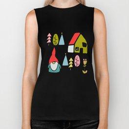 Christmas gnome Biker Tank