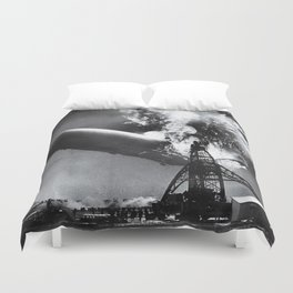Hindenburg Disaster Photo Duvet Cover