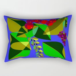Traditional Pomegranates, Grapes and Olives Rectangular Pillow