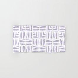 Velvety Tribal Weave in Lilac Hand & Bath Towel