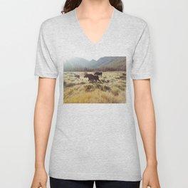 Three Meadow Moose Unisex V-Neck