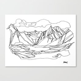 Kootenay Alpine Lakes :: Single Line Canvas Print
