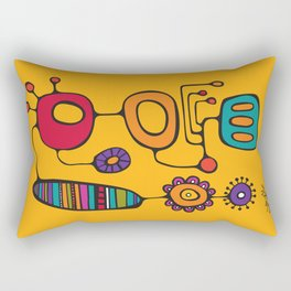 Feather Flower Chime in Color Rectangular Pillow
