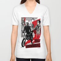 hannibal V-neck T-shirts featuring Hannibal! by Ginger Breo