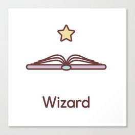 Cute Dungeons and Dragons Wizard class Canvas Print