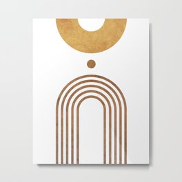 Transitions - White 01 - Minimal Geometric Abstract Metal Print