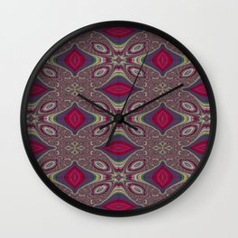 Uppermost Consumerism Pattern 5 Wall Clock