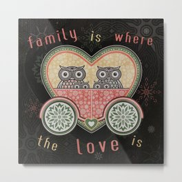 Owl_Love_SA_01c Metal Print