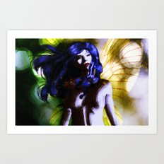 Fairy in the Rain Art Print