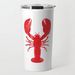Watercolor Lobster Travel Mug