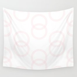Simply Infinity Link in Flamingo Pink on White Wall Tapestry