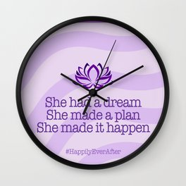 Dream, Plan and Make it Happen Wall Clock