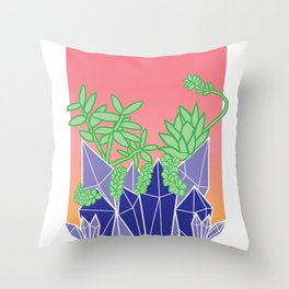 Crystal Plants Throw Pillow