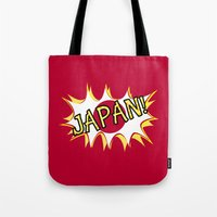 japan Tote Bags featuring Japan by mailboxdisco