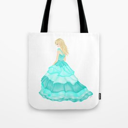 The Teal Dress Tote Bag