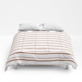 Sherwin Williams Cavern Clay Horizontal Line Pattern on White 3 Comforters
