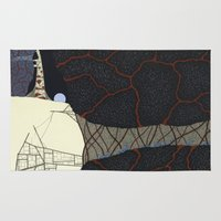 kaiju Area & Throw Rugs featuring kaiju by thefleafarm (Amy Wright)