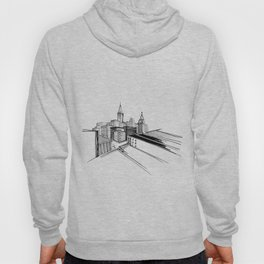 Vibrant City White Background Hoody