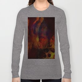 beyond the lines   (This Artwork is a collaboration with the talented artist Agostino Lo coco) Long Sleeve T-shirt