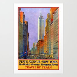 New York, vintage poster Art Print